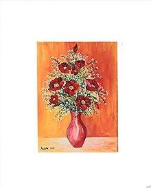 Obrazy - Obraz: Kvety, 18 x 24 cm, akryl - 13514786_
