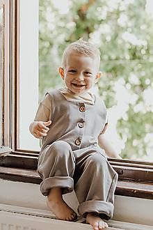Detské oblečenie - Detský teplákový overal JONÁŠ - 13515926_