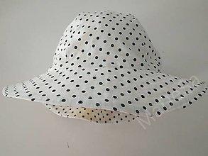 Detské čiapky - ...biely klobúčik s bodkou - ihneď k odoslaniu... - 13516550_