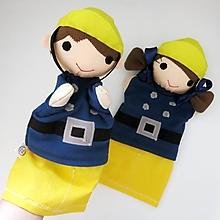 Hračky - Maňuška požiarnik / požiarnička - na objednávku - 13515261_