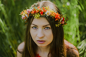 """Ozdoby do vlasov - Kvetinový venček """"letné stmievanie"""" - 13515251_"""