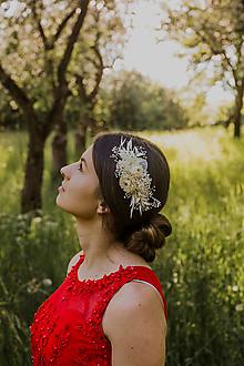 """Ozdoby do vlasov - Kvetinový hrebienok """"ranný vánok"""" - 13516713_"""