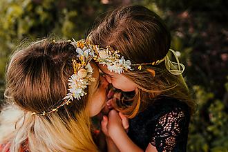 """Ozdoby do vlasov - Set venčekov mama/dcéra """"slnečné dotyky"""" - 13516782_"""
