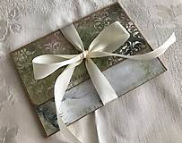 Papiernictvo - Darčeková krabičková obálka na peniaze alebo foto - 13518341_