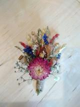 - prírodné pierko pre ženícha zo sušených kvetov - 13519331_