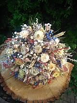 - prírodná svadobná kytica zo sušených kvetov - 13519351_