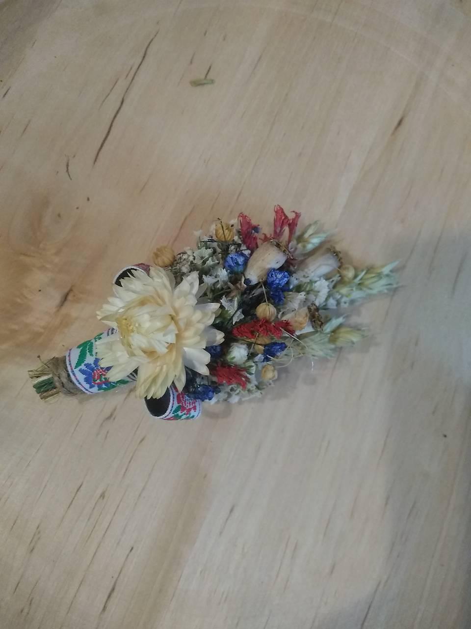 prírodné pierko pre otcov, svedkov zo sušených kvetov