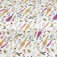 Textil - bavlnený úplet pestrá lúka, šírka 150 cm - 13517140_