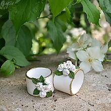 Darčeky pre svadobčanov - Greenery svadba - menovky/darčeky pre hostí/krúžky na obrúsky - 13517438_