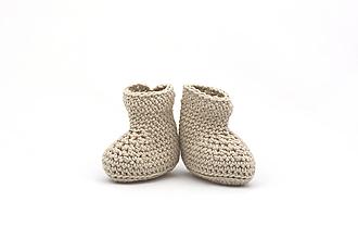 Detské topánky - Béžové letné papučky EXTRA FINE - 13518286_
