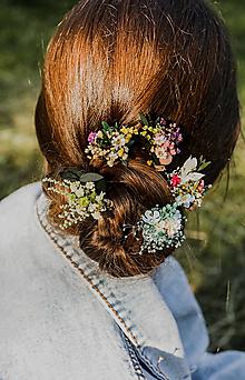 """Ozdoby do vlasov - Kvetinová vlásenka """"dotkni sa dúhy"""" - 13517448_"""