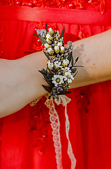 """Náramky - Kvetinový náramok """"tak krásne mi"""" - 13517521_"""
