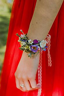 """Náramky - Kvetinový náramok """"na jazere"""" - 13518472_"""
