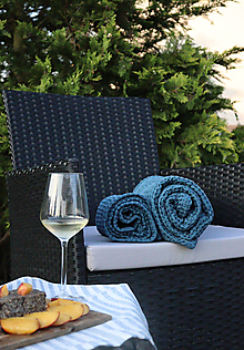 Úžitkový textil - Ľanový vaflový uterák - 13519261_
