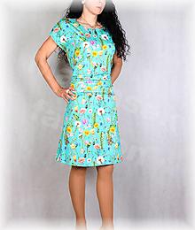 Šaty - Šaty s řasením v pase vz.676 - 13520511_
