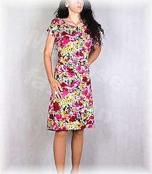 Šaty - Šaty s řasením v pase vz.678 - 13520539_
