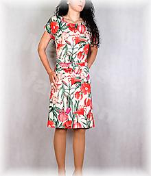 Šaty - Šaty s řasením v pase vz.680 - 13521811_