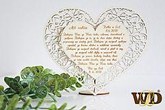 Dekorácie - Poďakovania rodičom FLOWER - 13522998_