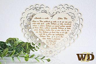 Dekorácie - Poďakovania rodičom NATUR - 13522995_
