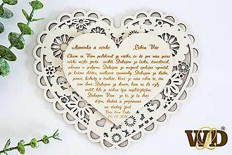 Dekorácie - Poďakovania rodičom NATUR - 13522997_