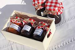 Potraviny - Darček pre gurmána podľa vlastného výberu v drevenej krabičke - 13521906_
