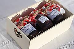 Potraviny - Darček pre gurmána podľa vlastného výberu v drevenej krabičke - 13521912_