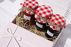 Darčekové balenie troch domácich džemov bez konzervantov