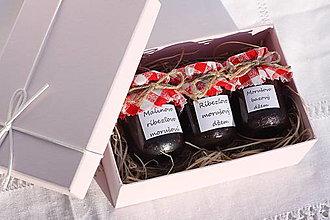 Potraviny - Tri mini džemy podľa vlastného výberu v darčekovom balení - 13521886_