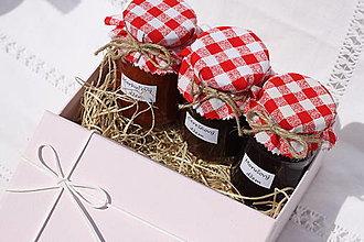 Potraviny - Darčekové balenie troch domácich džemov bez konzervantov - 13521924_