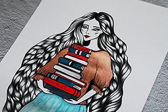 Kresby - Limitka - Knihovníčka I. - 13521620_