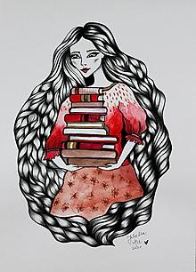 Kresby - Limitka - Knihovníčka IV. - 13521639_
