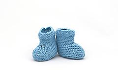 Topánočky - Modré letné papučky EXTRA FINE - 13522922_
