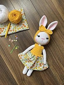 Hračky - zajačica Fifinka - v žltom - 13523582_