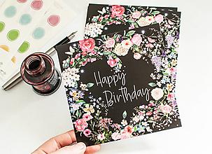 """Papier - Pohľadnica """"Happy Birthday"""" b.meadow - 13522824_"""