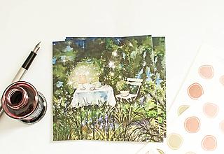 """Papier - Pohľadnica """"Večera magic"""" - 13522901_"""