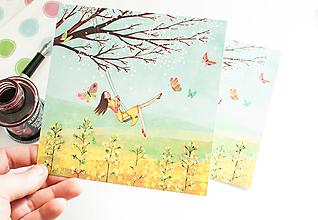 """Papier - Pohľadnica """"vo vetre"""" - 13523062_"""