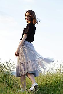 Sukne - Tylová sukňa - 13526213_