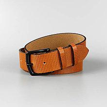 """Opasky - Pánsky kožený opasok do riflí """"Orange"""" - 13524684_"""