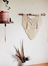 "Dekorácie - indiánske makramé ""láska"" - 13524512_"