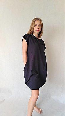 Šaty - Úpletové dámske šaty/tunika BEA Navy - 13525054_