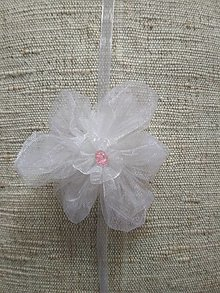Pierka - Náramok bielo-ružový - 13525152_