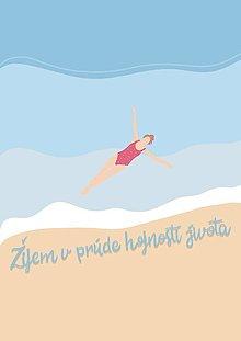 """Grafika - Ilustrácia """"Žijem v prúde hojnosti života"""" - 13524980_"""