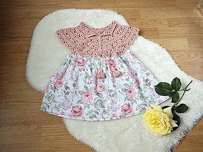 Detské oblečenie - Detské šaty s háčkovaným vrchom - 13524629_