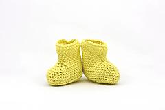Topánočky - Žlté letné papučky EXTRA FINE - 13525260_