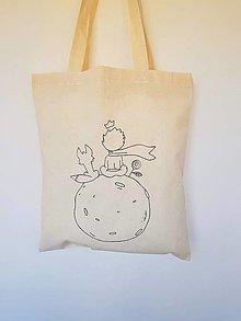 Nákupné tašky - •ručne maľovaná plátená taška - Malý princ• - 13524269_