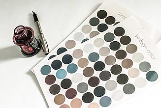 "Papier - Journaling nálepky ""Vintage color"" - 13525058_"