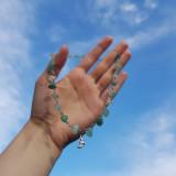 Náhrdelníky - Mesačný náhrdelník zo zlomkov avanturínu  - 13524739_