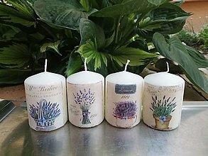 Svietidlá a sviečky - 4x levanduľové sviečky 1 - 13524602_