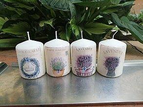 Svietidlá a sviečky - 4x levanduľové sviečky 2 - 13524628_