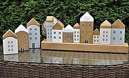 Dekorácie - Domčeky sada 3 + 8 na hranole - 13527670_